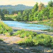 River Forks Morning Poster