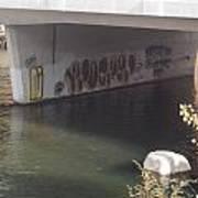 River Graffiti Poster
