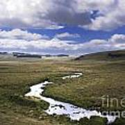 River In A Landscape Poster by Bernard Jaubert