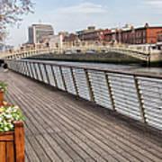 River Liffey Boardwalk In Dublin Poster