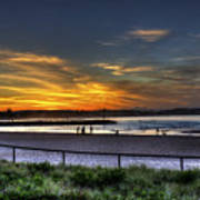 River Mouth At Sunset Poster