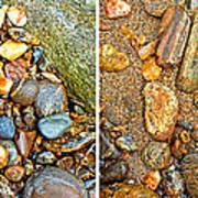 River Rocks 9 In Stereo Poster