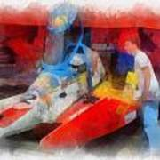 River Speed Boat Number 2 Photo Art Poster