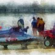 River Speed Boat Photo Art Poster