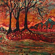 River Sunrise - Lothlorien Poster