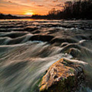 River Sunset Poster by Davorin Mance