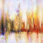Riverfront Refraction Fine Art Painting Poster
