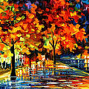 Rivershore Park - Palette Knife Oil Painting On Canvas By Leonid Afremov Poster