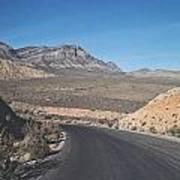 Road In Desert Poster