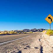 Road In The Desert #2 Poster