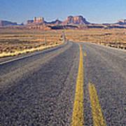 Road Through Monument Valley, Utah Poster