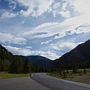 Road Through The Mountains Poster