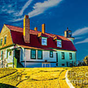 Road To Point Betsie Light Poster