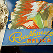 Roadhouse Relics Sign Poster
