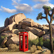 Phone Booth In Joshua Tree Poster