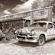 Roadside Antiques Poster