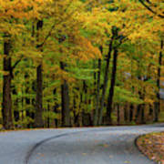 Roadway In Autumn In Brown County State Poster