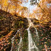 Waterfall - Roaring Brook Autumnlands Poster
