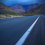 Robert Melvin - Fine Art Photography - Blue Diamond Storm Poster