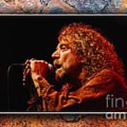 Robert Plant Art Poster by Marvin Blaine