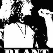 Robert Plant Black And White Pop Art Poster