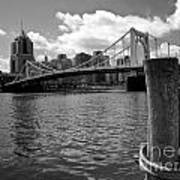 Roberto Clemente Bridge Pittsburgh Poster