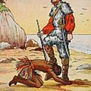 Robinson Crusoe And Friday Poster