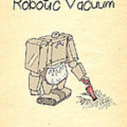 Robotic Vacuum Cleaner Comic Poster by