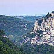 Rocamadour Midi Pyrenees France Panorama Poster by Colin and Linda McKie