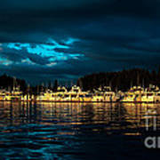 Roche Harbor  At Sunset Poster