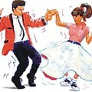 Rock And Roll Dancers Poster