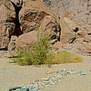 Rock Arrow And Terry Directing Into Ladder Canyon From Big Painted Canyon Trail In Mecca Hills-ca  Poster