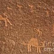 Rock Art At Wadi Rum In Jordan Poster