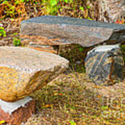 Rock Bench And Table Poster