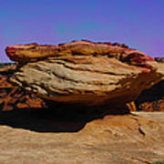 Rock Formation In Canyon De Chelly Poster