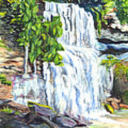 Rock Glen Falls Ontario Canada Poster