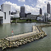 Rock Hall Of Fame On Lake Erie Poster