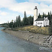 Rock Harbor Lighthouse Poster