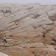 Rock Jogger At Peggy's Cove Poster