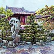 Rock Landscape Of The Dr. Sun Yat-sen Garden Poster