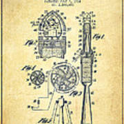 Rocket Apparatus Patent From 1914-vintage Poster