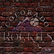 Rockies Baseball Graffiti On Brick  Poster by Movie Poster Prints