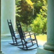 Rocking Chairs And Columns Poster