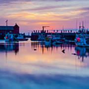 Rockport Harbor Sunrise Over Motif #1 Poster