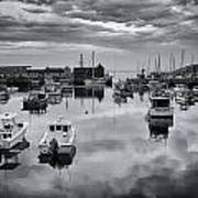 Rockport Harbor View - Bw Poster