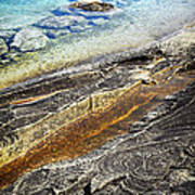 Rocks And Clear Water Abstract Poster