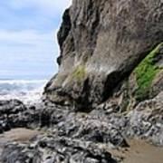 Rocks At Arcadia Beach Poster