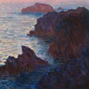 Rocks At Belle Ile Poster