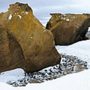 Rocks At Brown Bluff, Antarctica Poster