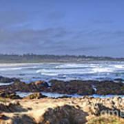 Rocks Before Beach Poster